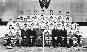"Stanley Cup champions 1945: ""Young Teeder Kennedy leads the way with 7 goals, including 4 in the final series."""