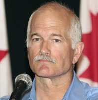 """New Democratic Party leader Jack Layton listens to a question during a news conference at the Delta Barrington hotel in Halifax, Nova Scotia, September 3, 2009."" Reuters/Globe and Mail."