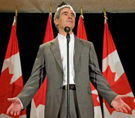 Liberal Leader Michael Ignatieff speaks to reporters on the final day of the party's summer caucus retreat in Sudbury on Sept 2, 2009. The Canadian Press.
