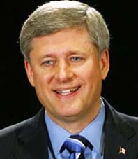Prime Minister Stephen Harper at a news conference in Calgary Sept. 1, 2009. He argued on Sept. 2 that a fall federal election would hurt the Canadian economy.