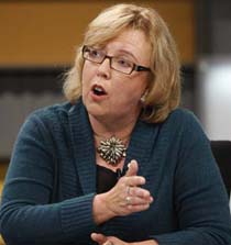 Green Party Leader Elizabeth May is already facing a complaint from a fellow party member over the nomination in the Saanich-Gulf Islands riding in BC. Which probably does augur too well for her attempt to finally win a seat in Parliament in the next federal election, whenever it comes. Photograph by: Tom Hanson, Reuters files.