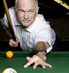 New Democrat leader Jack Layton ... He hustled Paul Martin way back when. Can he hustle Stephen Harper now? (Jason Kenney would say no ... he drinks his own Kool-Aid.)