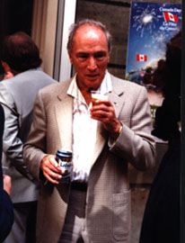 """the gunslinger ethos in canadian politics by pierre elliot trudeau A photo in the toronto star, showing trudeau at his desk shooting an elastic band, bears the caption """"pierre elliott trudeau ranks as canada's top prime minister of the last four decades, poll shows"""" but not everyone liked him when he was in office and there are still many who do not admire his contribution to canadian institutions ."""