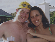 Rick Ralph and Julie C rocker, on a vacation in St. Lucia in December 2006.