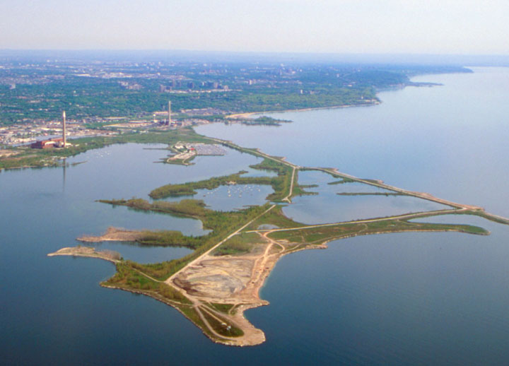 The Leslie Spit, in the Toronto megacity's near east end.
