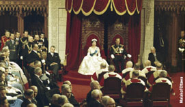 Elizabeth II opens the 23rd Parliament of Canada. The authors of the new 2009 Canadian citizenship guide had to go all the way back to 1957 to find a photo of the British monarch actually opening a Canadian Parliament. We have now progressed to the 40th Parliament of Canada. But the countrys current minority government apparently wants to turn the clock back to 1957   or much earlier still.