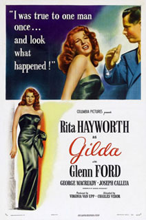 "Journalist Paul Wells reports that in the old days in Ottawa ""Peter Donolo, famously, decorated his office with huge posters from classic Hollywood movies."" This 1946 case in point, ""Gilda,"" with Rita Hayworth and Glenn Ford (also born, like Donolo, in la belle province du Québec), is rumoured to be one of Peter Donolo's favourites."