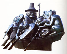 "Bill Reid's sculpture ""The Black Canoe"" or ""The Spirit of Haida Gwaii."""