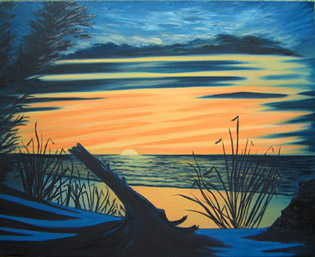 Sunset Haida Gwaii, Marion Carrier.