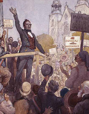 Louis Joseph Papineau campaigns for Reform in Lower Canada, 1837. C.W.Jefferys.