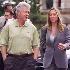 Belinda Stronach in real life, with friend. Stephen Harper should have known: no real Conservative would hang out with this guy! Is the minority prime minister making a similar mistake now, and with who?