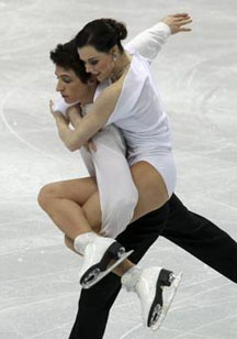 Tessa Virtue and Scott Moir of Canada (southwestern Ontario branch) perform at Vancouver, Monday, February 22, 2010. They finally became both the first Canadians — and the first  North Americans — to win the Olympic ice dance gold medal. Photograph by: John Mahoney / Canwest News Service.