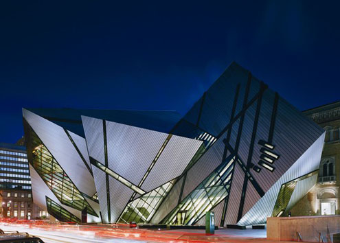 The new Michael Lee-Chin Crystal addition to the Royal Ontario Museum in Toronto, just north of Queen's Park where Ontario Budgets are introduced.