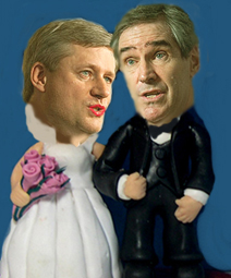 Politics, as they say, often enough makes strange bedfellows — especially in Canada?