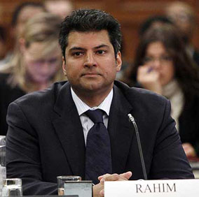 Former Conservative MP Rahim Jaffer waits to testify before the government operations committee in Ottawa, April 21. Photograph by: Chris Wattie, Reuters.
