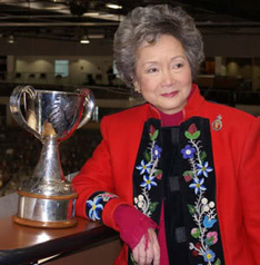 Adrienne Clarkson, Governor General of Canada , 1999–2005, with the Clarkson Cup, which since 2009 has been awarded to the winner of the National Canadian Women's Hockey Championship. Jean Chretien's rather innovative appointment of Mme Clarkson has been regarded by some as a watershed of sorts in the evolution of the office.