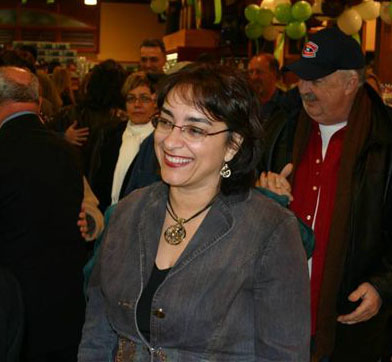 Bloc Québécois MP Mme Claude DeBellefeuille at an event in her riding,  Beauharnois Salaberry.