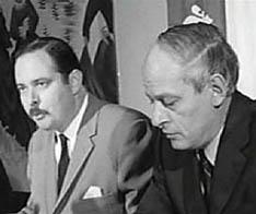 Jacques Parizeau (l) joins René Lévesque's Parti Québécois in 1969.