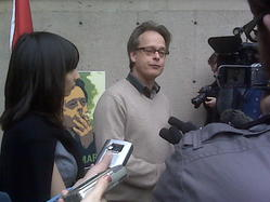 Marc Emery turns himself in outside BC Supreme Court. JILL DREWS, NEWS1130 Vancouver.