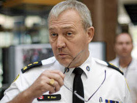 Toronto Police chief Bill Blair prepares for a press conference on G20 adventures at police headquarters, Tuesday, June 29, 2010. Darren Calabrese/The Canadian Press.