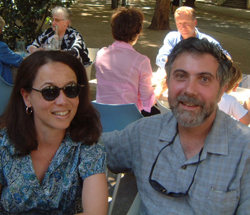 Nobel Prize winning economist Paul Krugman and his wife Robin, on vacation in France long ago, in the summer of 2003.