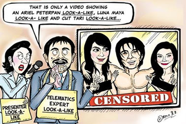 "Cartoon on ""the Peterporn scandal"" in The Jakarta Post."