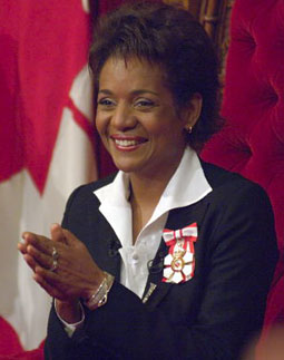 Michaelle Jean, Governor General of Canada 2005–2010. Appointed by minority Prime Minister Paul Martin.