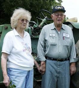"Eloise Spooner, 82, and her husband, George, 88, at their farm near Iron City, Ga., on Wednesday, July 21, 2010. Their testimony on CNN finally made clear that Shirley Sherrod is anything but a ""racist."