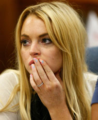 Lindsay Lohan in court, July 6, 2010. Getty Images.