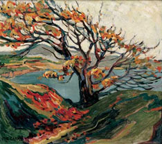 """Emily Carr, """"Tree in Autumn."""""""