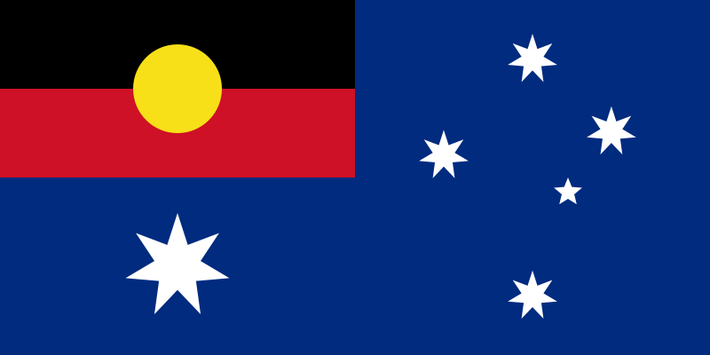 """Aboriginal/Australian flag"" — with"