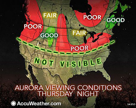 Northern Lights Canada Map Northern lights tonight .. if you're lucky, in much of Canada and