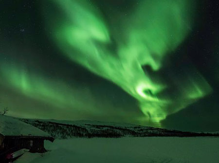 Northern lights tonight    if you're lucky, in much of Canada and